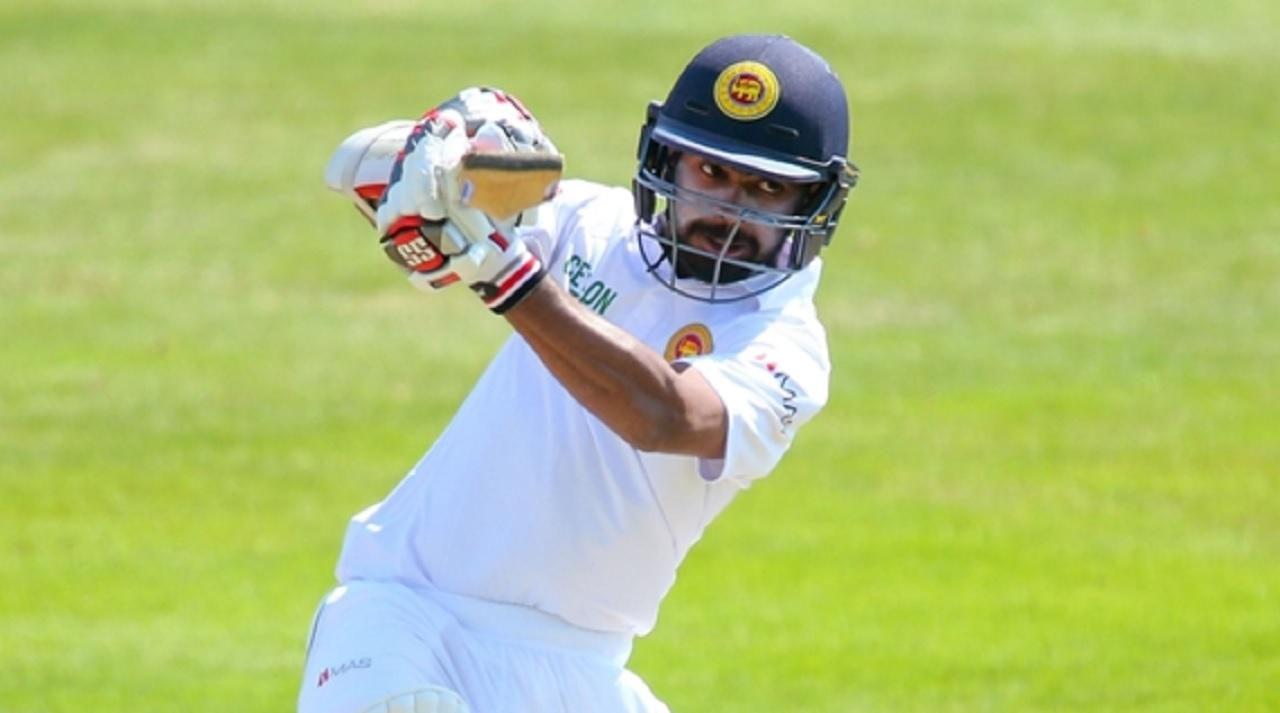 Niroshan Dickwella playing for Sri Lanka.