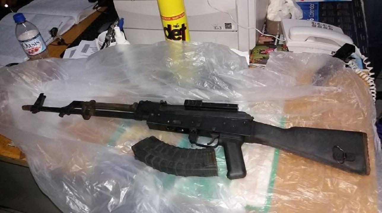File photo of a seized AK-47