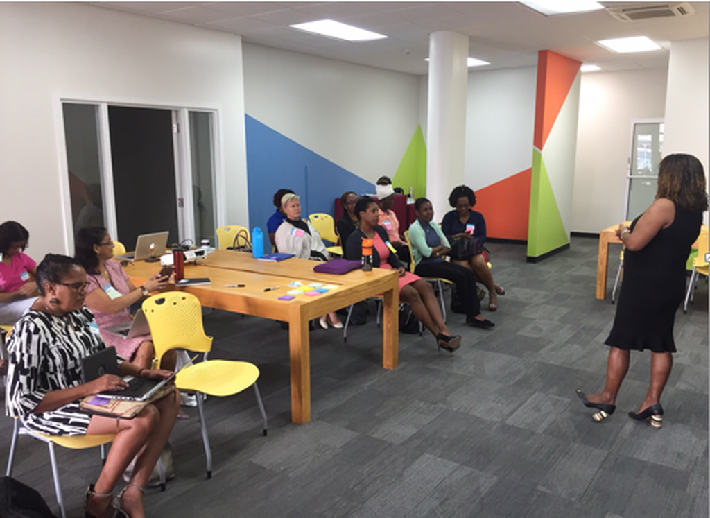 Participants in the Female Founders Boot Camp, atTEN Habitat Co-Working Space.