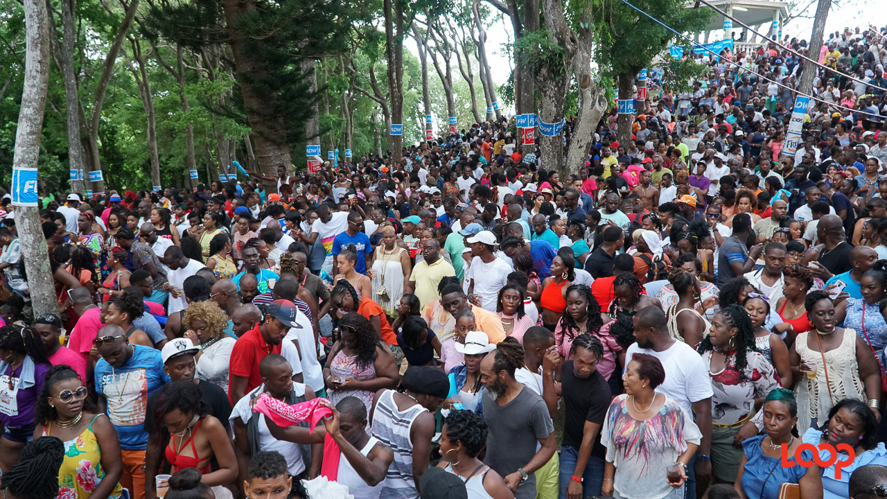 Tens of thousands filled Farley Hill on Sunday afternoon. (PHOTO: Richard Grimes)