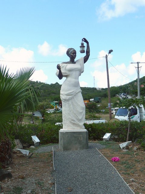 Lady Liberty in St Martin.