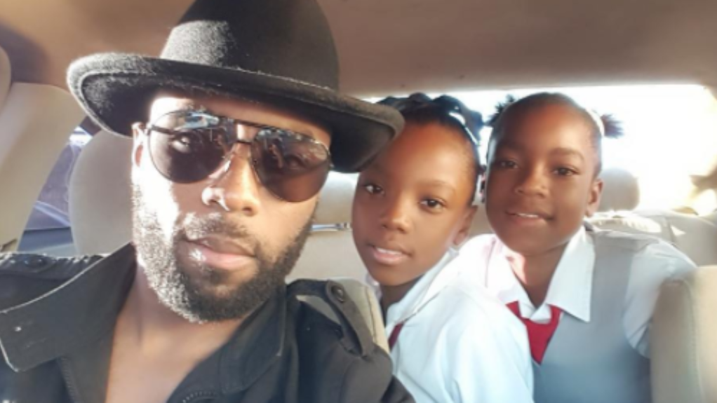 DJ Cutty with his daughters