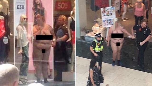 De vrouw werd naakt weggevoerd door de politie en is onder begeleiding geplaatst van medische professionals.