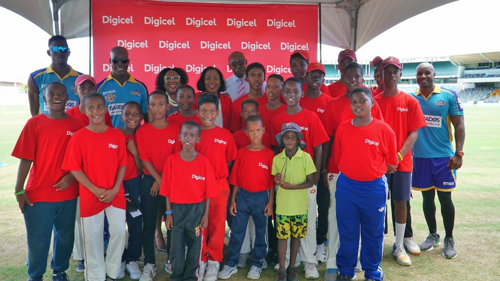 Those present for the launch of Digicel's inaugural CPL Big Brother Programme at Kensington Oval.