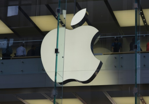 Logo d'Apple dans une boutique de Sydney, le 6 avril 2017 en Australie