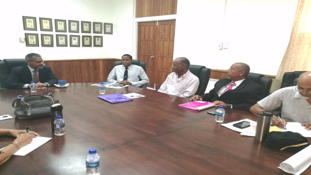 Agriculture, Land and Fisheries Minister Clarence Rambharat hosts the first meeting of the Cabinet-appointed Wildlife Conservation Committee.
