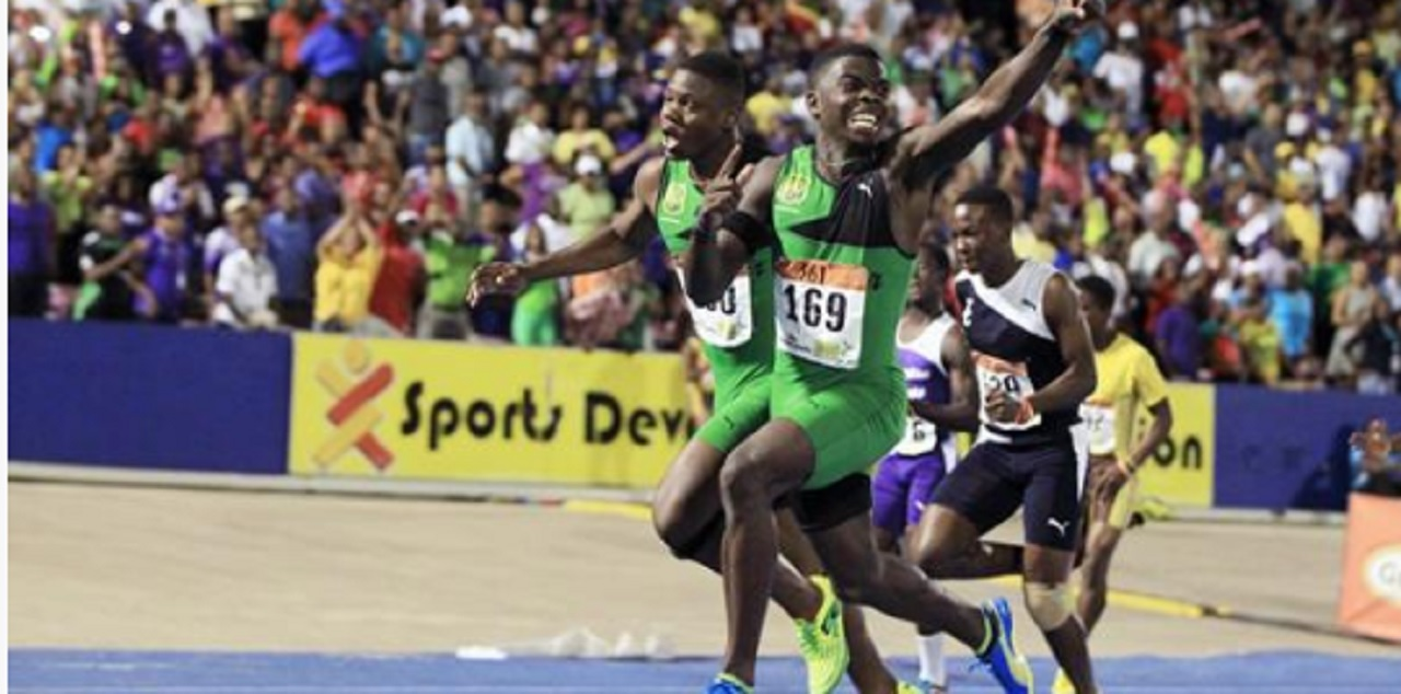 Jamaican Tyreke Wilson (right) is the gold medal favourite for the boy's 100m at the IAAF World Under-18 Championships in Nairobi, Kenya