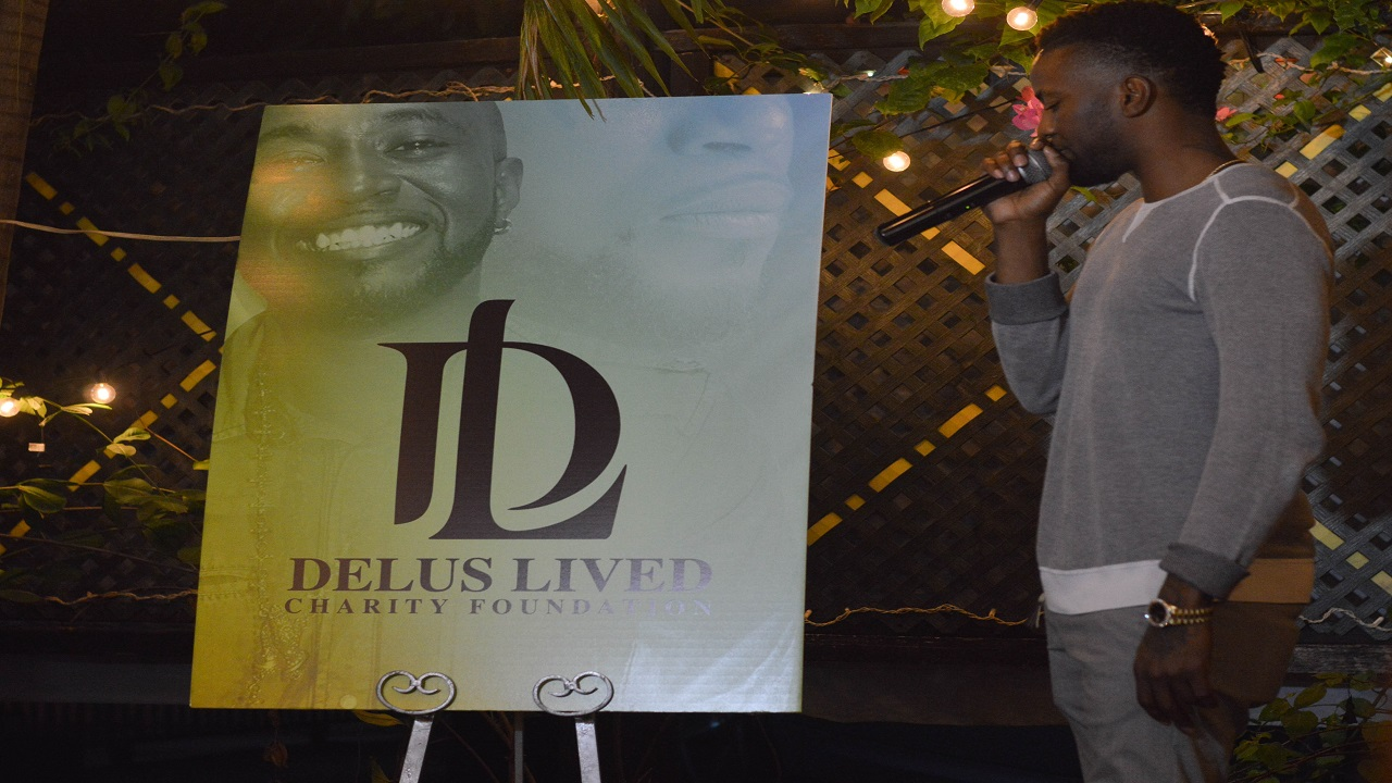 Konshens at the launch of the 'Delus Lived', a foundation in honour of his late brother.