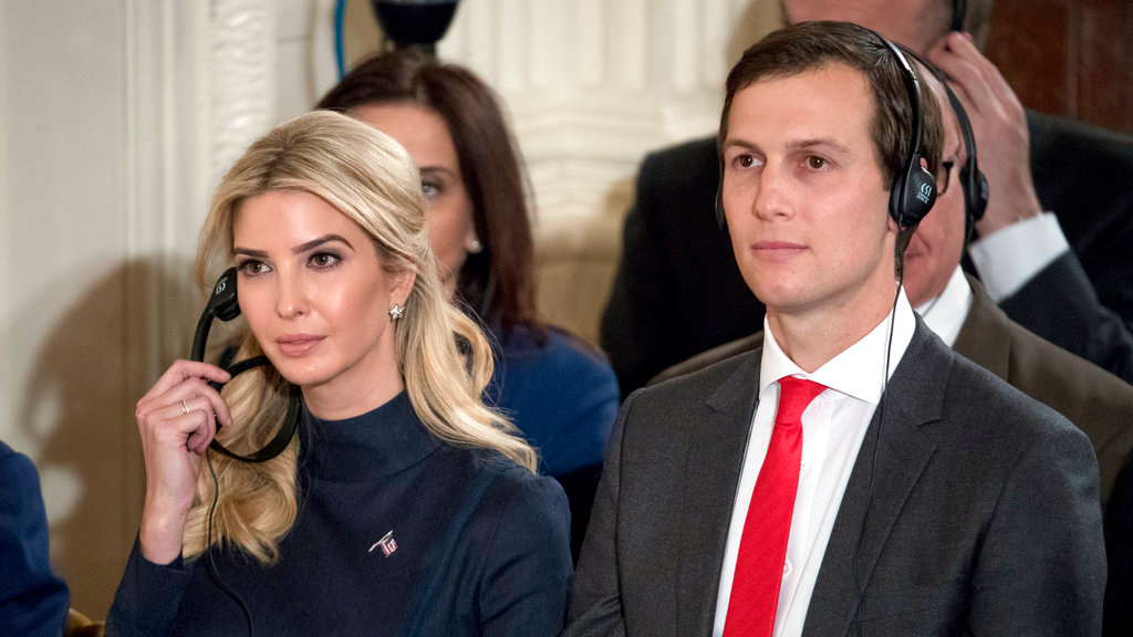 In this March 17, 2017, file photo Ivanka Trump, the daughter of President Donald Trump, and her husband Jared Kushner, senior adviser to President Donald Trump, attend a joint news conference with the president and German Chancellor Angela Merkel in the East Room of the White House in Washington. (AP Photo/Andrew Harnik, File)