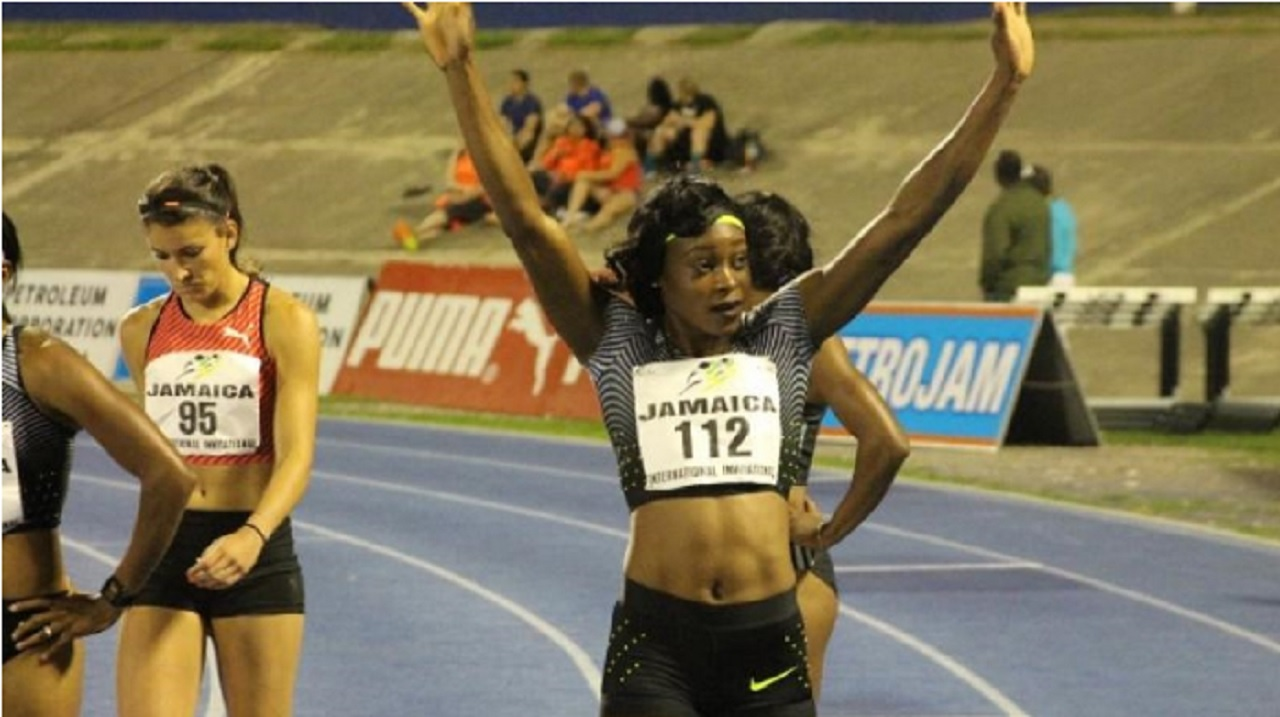 Double Olympic sprint champion Elaine Thompson.