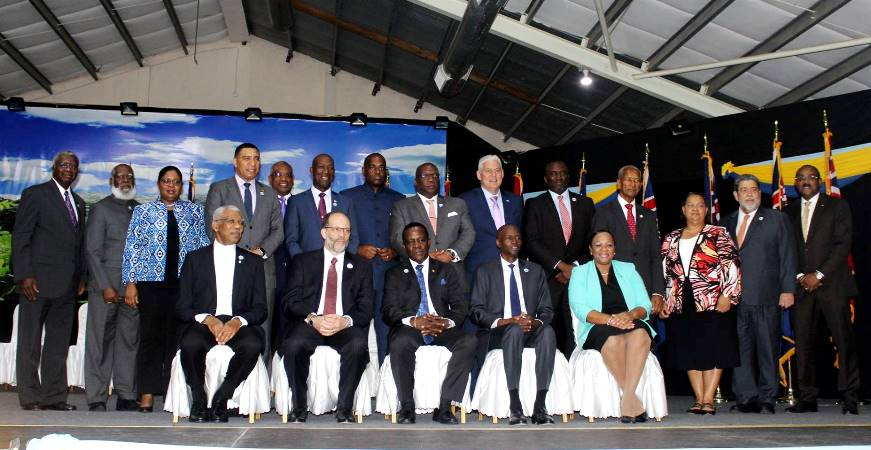 CARICOM Heads of Government following the Opening Ceremony of the 38th Regular Meeting in Grenada.