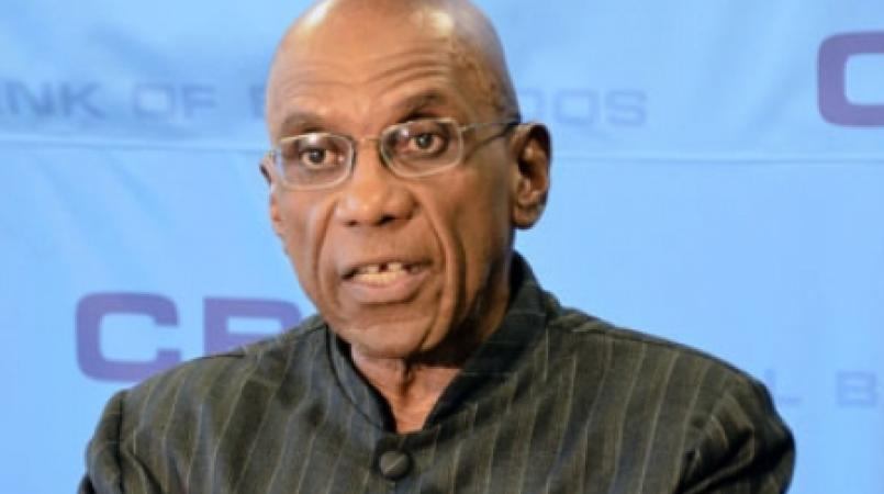 Former Governor of the Central Bank of Barbados, Dr. Delisle Worrell