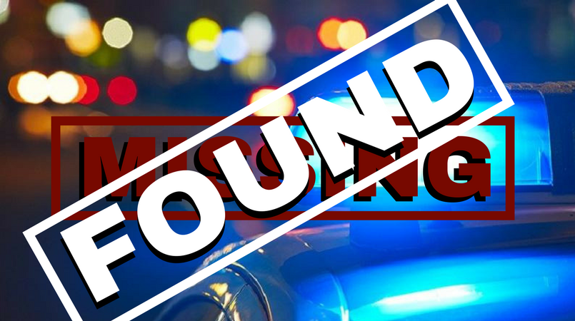 A 25-year-old who was reported as missing has been found.