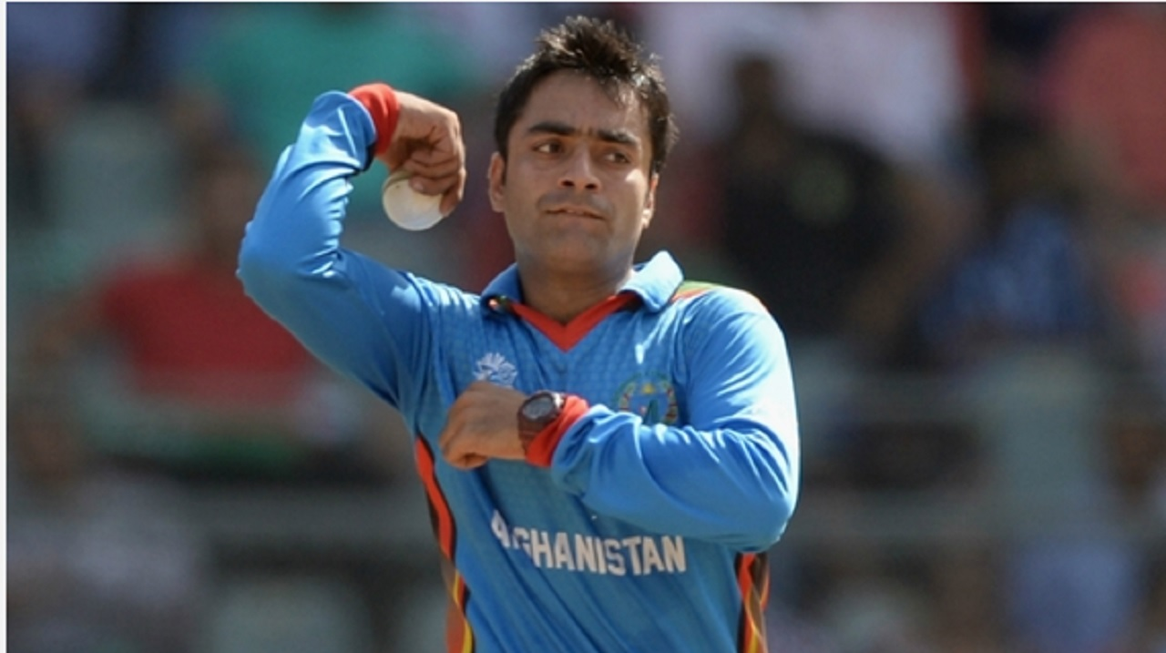 Afghanistan bowler Rashid Khan.