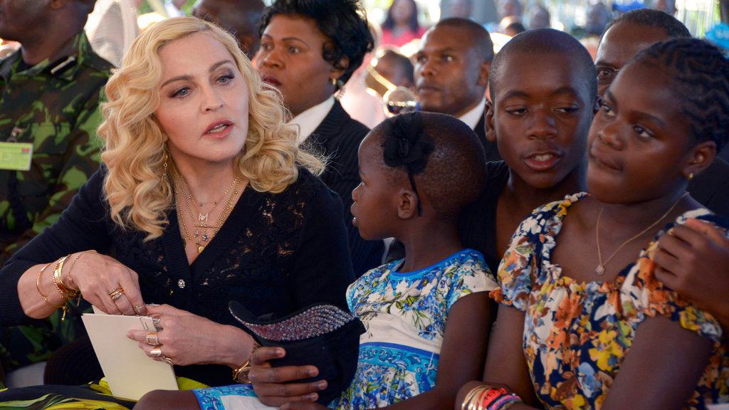 (left) Madonna