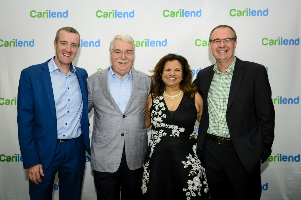 Directors and Founders of Carilend (l-r) Non-Executive Director and Co-Founder, Mark Linehan; Non-Executive Director and Co-Founder, Byren Innes; Co-Founder and Strategic Advisor, Ingrid Innes; and CEO, Co-Founder and Director, Mark Young.