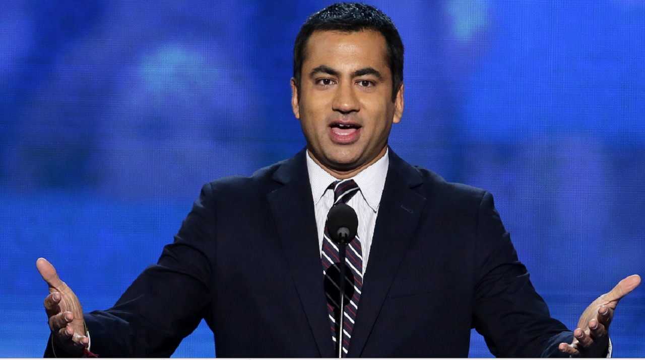 In this Sept. 4, 2012 file photo, Actor Kal Penn addresses the Democratic National Convention in Charlotte, N.C. Penn, artist Chuck Close and virtually the entire membership of the President's Committee On the Arts and Humanities have announced their resignation.