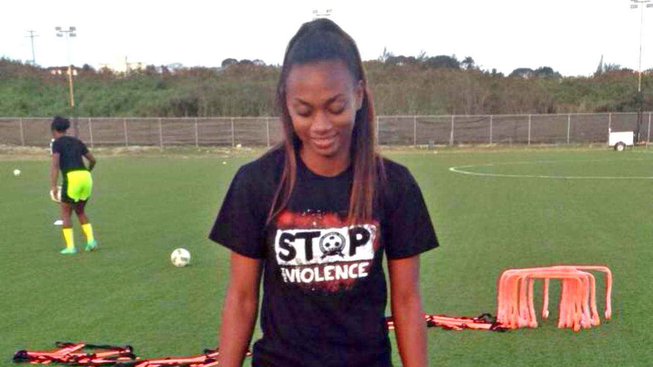 Barbados senior women's footballer Jeneva Millar.