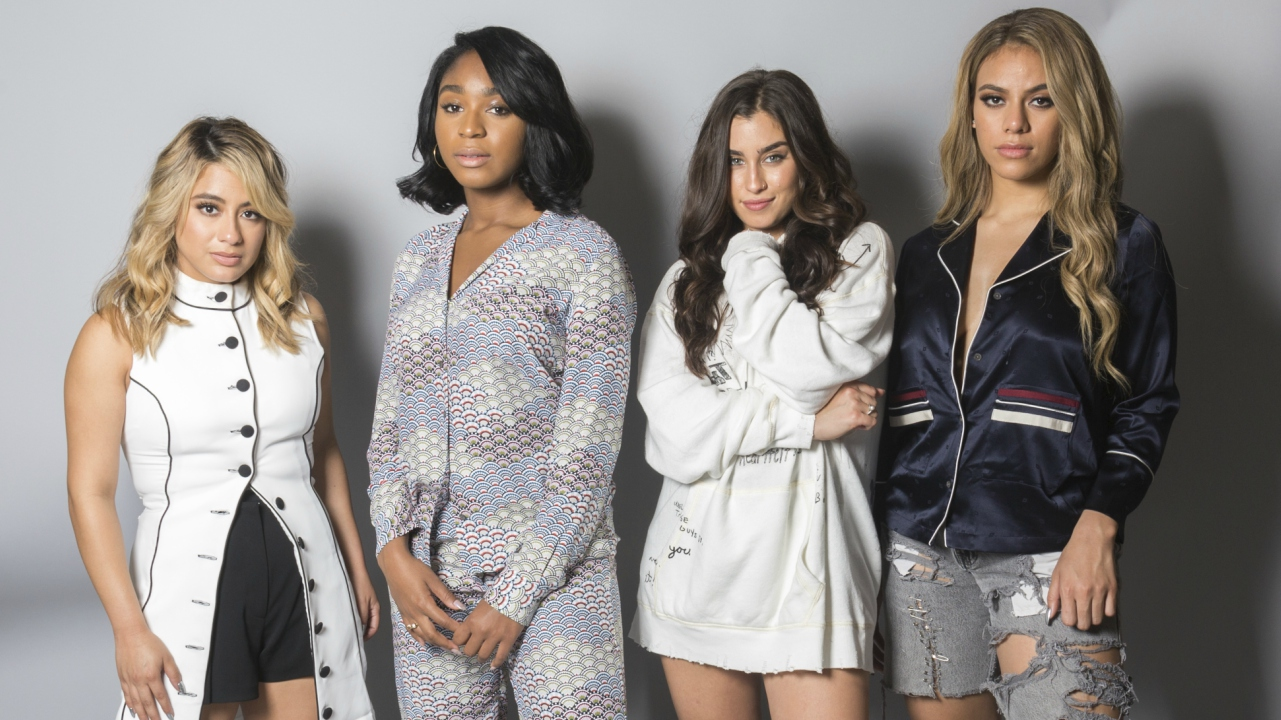 In this Aug. 24, 2017 photo, members of Fifth Harmony, from left, Ally Brooke, Normani Kordei, Lauren Jauregui and Dinah Jane pose for a portrait in Los Angeles to promote their self-titled album. (AP Photo)