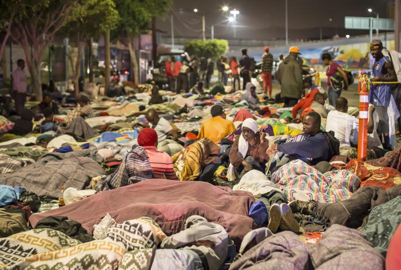 Près de 6 000 migrants haïtiens dans les rues de Tijuana en attente du pouvoir en Octobre 2016