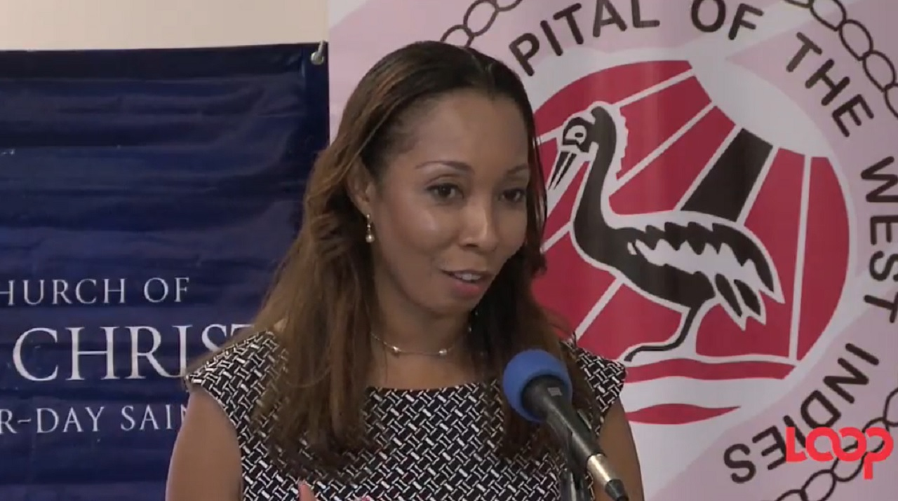 Dr Lizette Mowatt, head of the Opthalmology Division at UHWI, speaks at the handover ceremony.