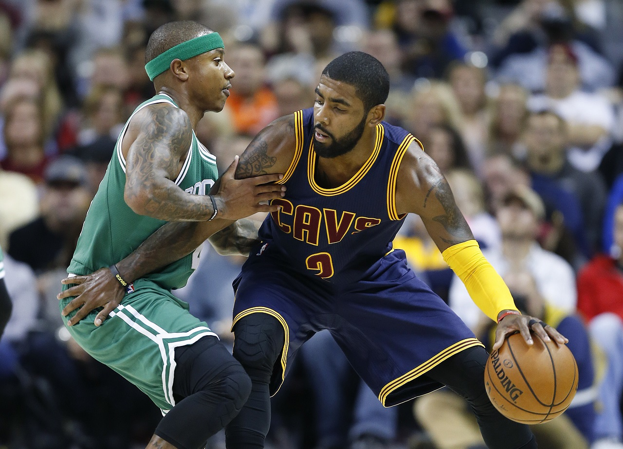 cb44a9be248 Boston bound  Cavs trade Irving to Celtics for Thomas