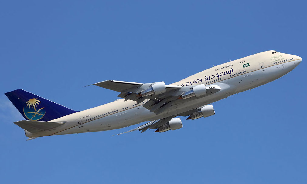 Avion saoudien en vol. Credit photo: cotam001