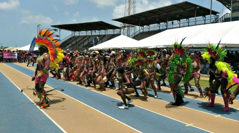 FILE - Grand Kadooment Day at the National Stadium.