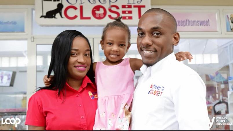 Kadian Thomas, and Sean Paul Morgan with their daughter Kai-Sean.