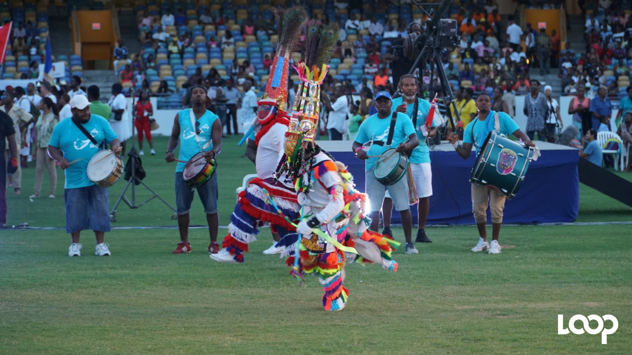 The Bermudan delegation at the CARIFESTA XIII Opening Ceremony. (PHOTO: Richard Grimes)