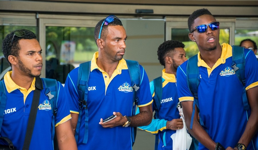 Barbados Tridents players arrive on the island for the home leg of the CPLT20.