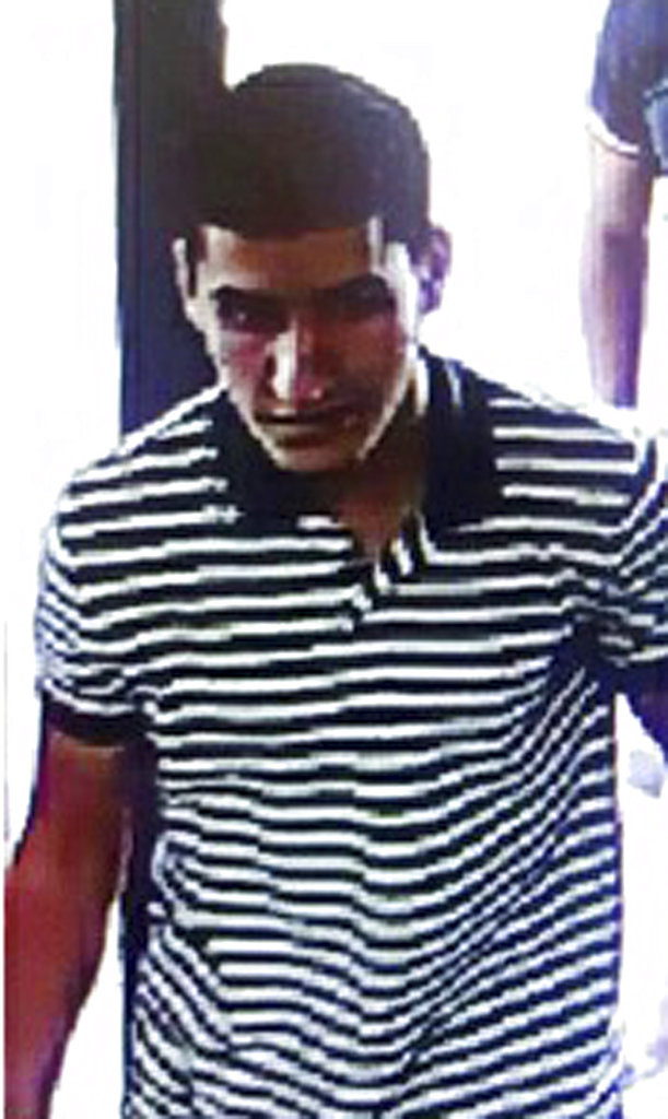 An image of suspect Younes Abouyaaqoub, released by the Spanish Interior Ministry on Monday Aug. 21, 2017. Moroccan suspect Younes Abouyaaqoub, 22, is the final target of a manhunt that has been ongoing since the attacks. (Spanish Interior Ministry via AP)