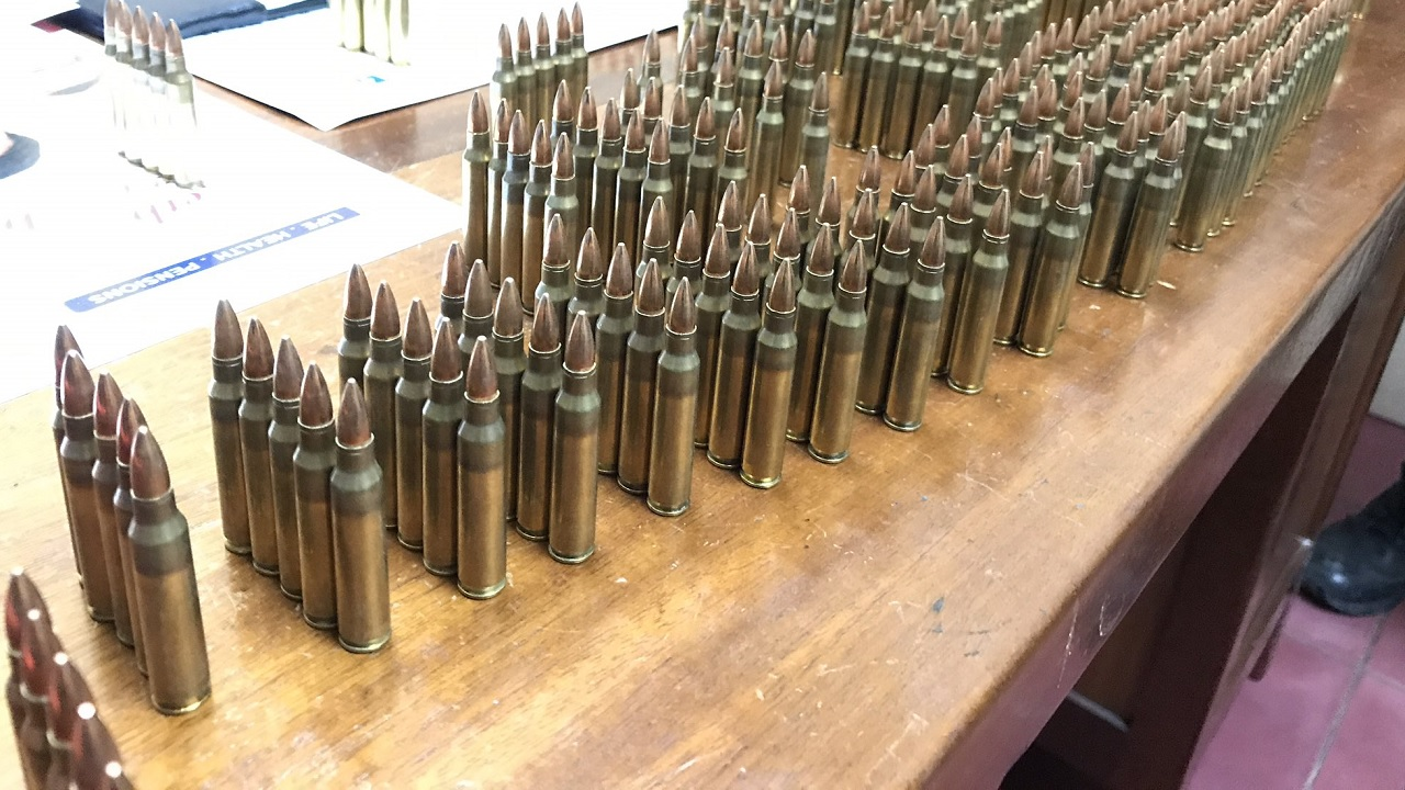 Members of the island's security forces seized 360 rounds of ammunition during an operation in East Kingston