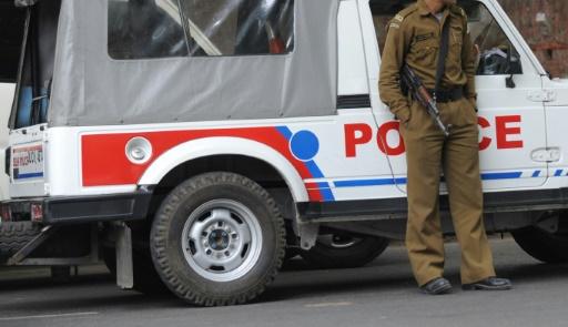 Une voiture de police, le 4 février 2012 à New Delhi