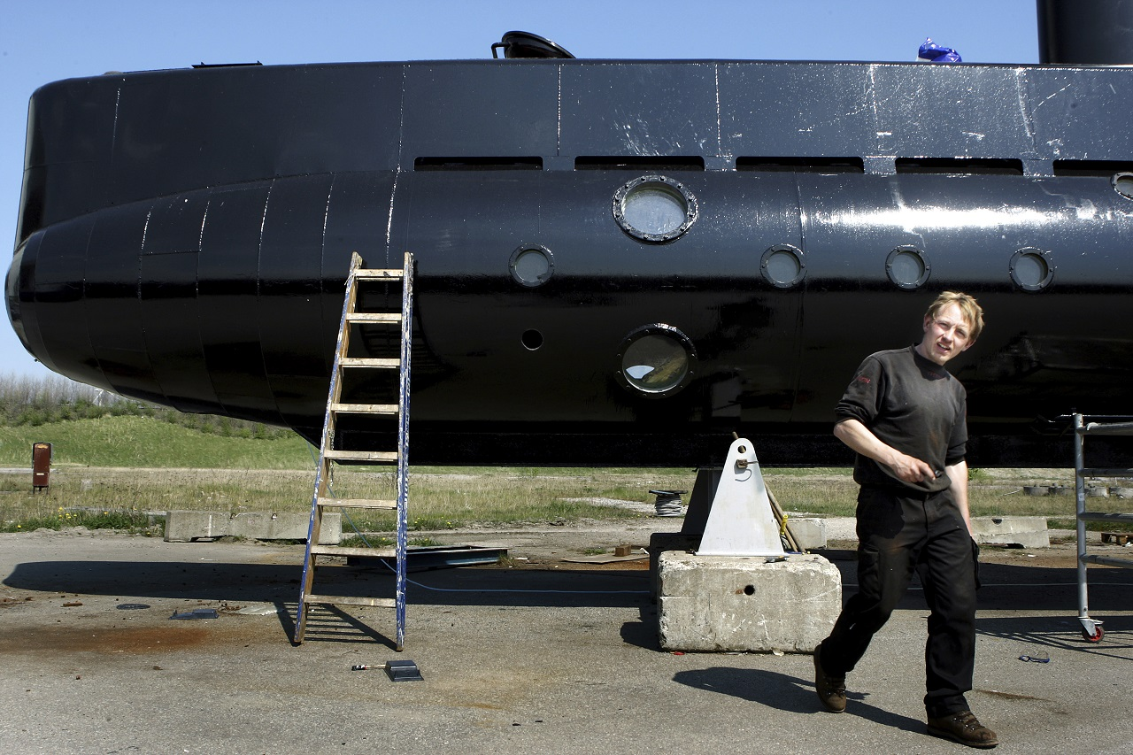 """This is a April 30 2008 file photo of submarine owner Peter Madsen . Denmark's navy says that Madsen's privately built submarine that had been feared missing in Danish waters has been found and the crew is safe. The navy says that the 40-ton, nearly 18-meter-long (60-foot-long) submarine with at least two people on board had been """"found sailing"""" south of Copenhagen."""