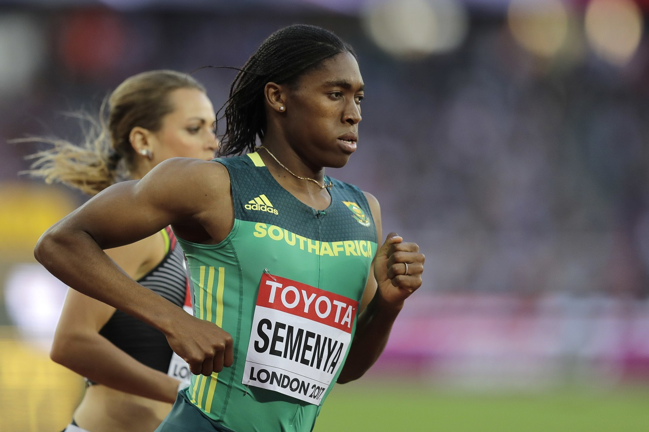 South Africa's Caster Semenya on her way to victory in the heats of the women's 800 metres at the World Athletics Championships in London, Thursday, Aug. 10, 2017.