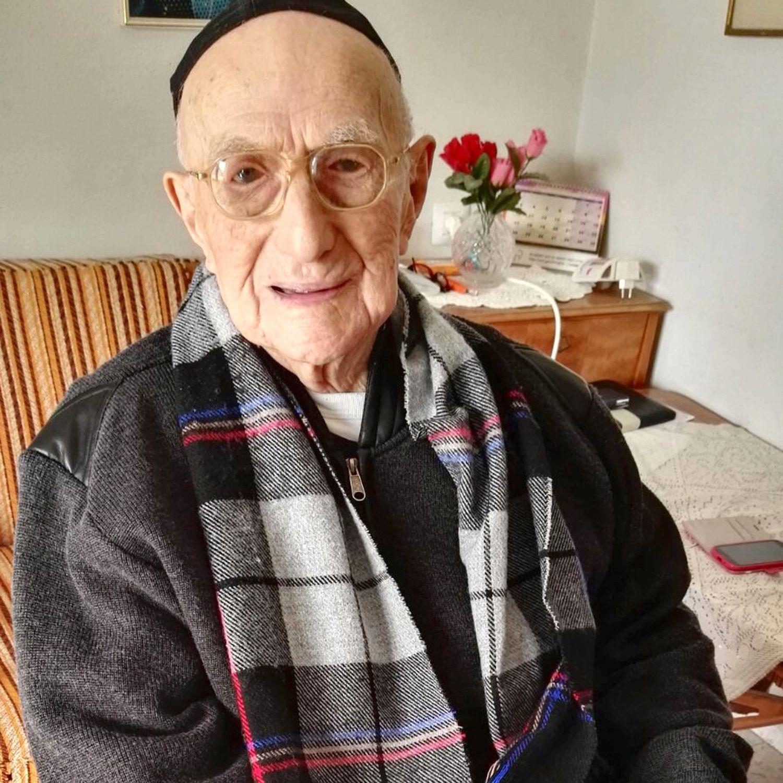 Yisrael Kristal, l'homme considéré jusqu'ici comme le plus vieux du monde par Guiness Records est décédé hier vendredi 11 aout./Photo: Gerontology Wiki