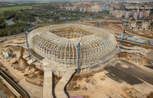 Le stade de Saransk en construction, le 25 août 2017