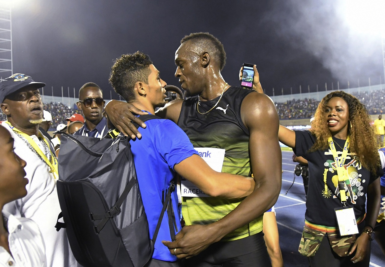 Usaain Bolt and Wayde van Niekerk.