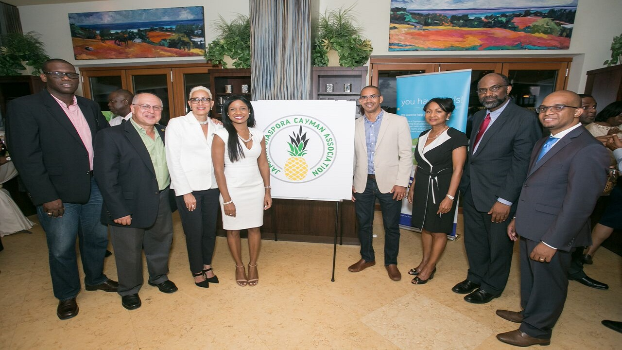 Founding members of the Jamaica Diaspora Cayman Association at the pre-launch in Grand Cayman.