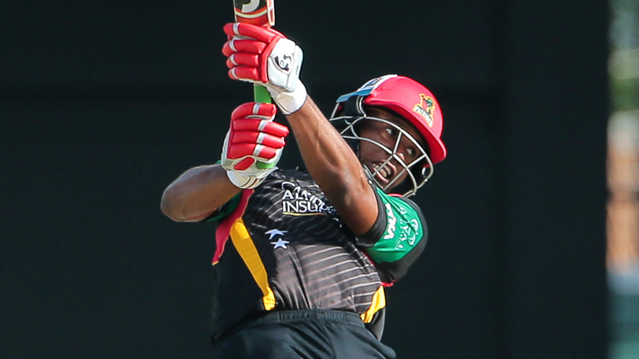 Evin Lewis was imperious form with 92 off 52 balls for the unbeaten Patriots