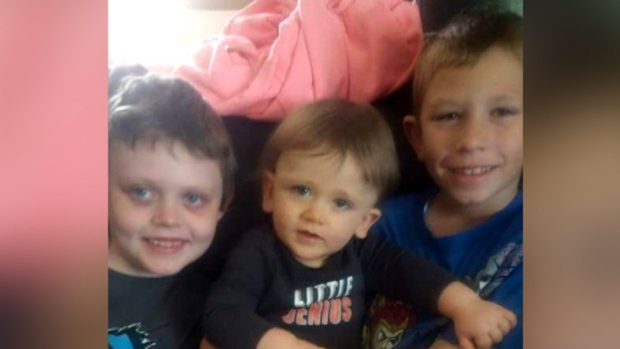 Jacob O'Connor, right, saved his brother Dylan, centre, from drowning by performing CPR. (Christa O'Connor)