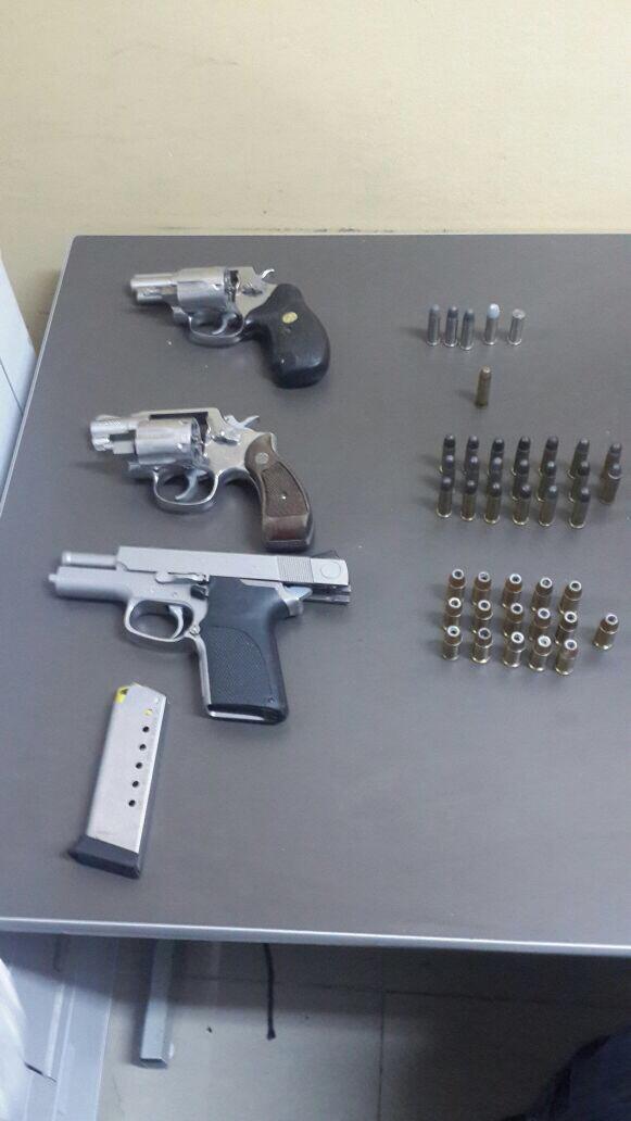 Four guns seized on Wednesday