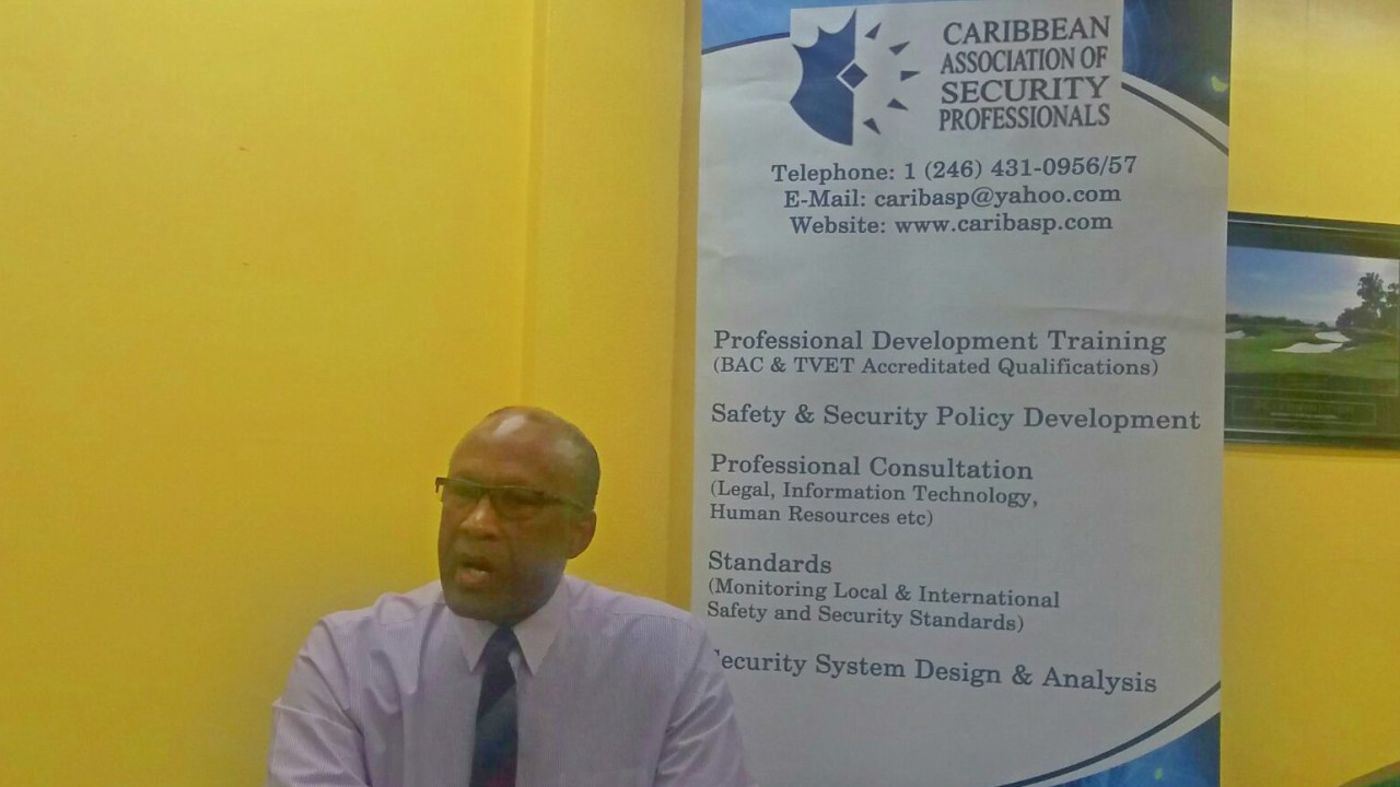 Executive Director of the Caribbean Association of Safety and Security Professionals (CASP), Oral Reid.