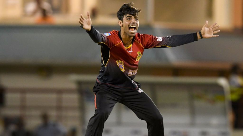 Khan hit 30 not out and took 1/16 in the TKR win over St Lucia Stars