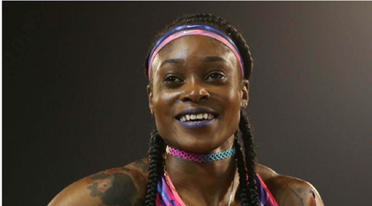 Reigning double Olympic sprint champion Elaine Thompson.