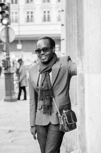 David André, créateur haitien de mode, à la treizième édition de Carifesta./Courteoisie de David André