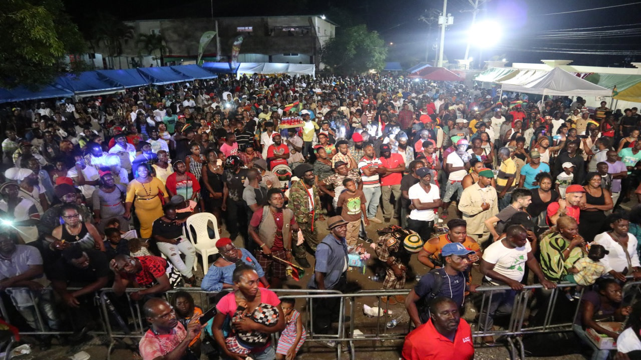 Patrons pack Coconut Grove in St Ann on Sunday to celebrate Jamaica's first National Hero, Marcus Garvey. (PHOTOS: Marlon Reid)