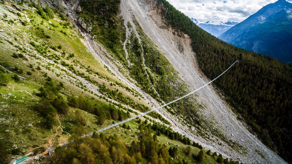 World's longest pedestrian bridge opens in the Swiss Alps