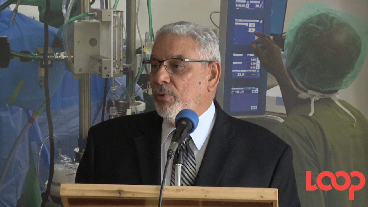 James Moss-Solomon, chairman of UHWI, at the handing over ceremony.